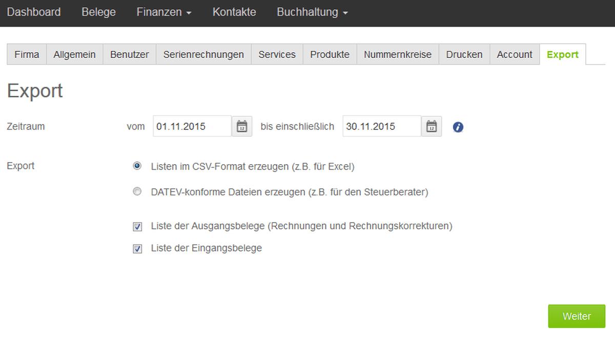 screen-offene-posten-export-003-lexoffice-rechnungsprogramm-buchhaltungssoftware