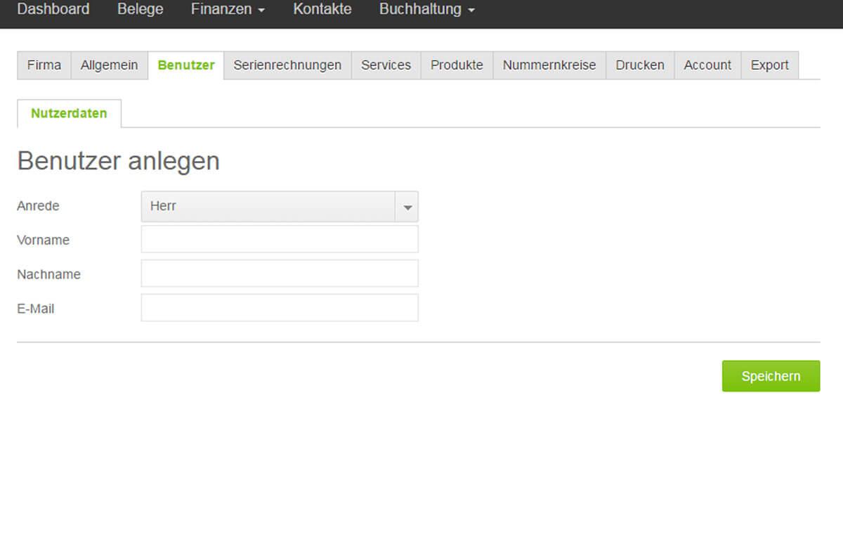 Screenshot Steuerberater freier Zugang für den Steuerberater einrichten und Nutzer anlegen mit lexoffice